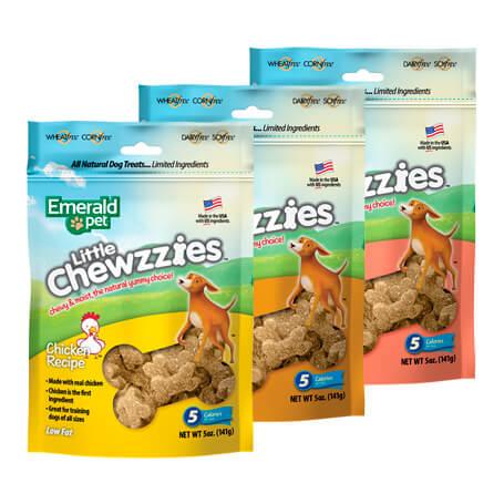 Emerald Pet Little Chewzzies de 3 sabores